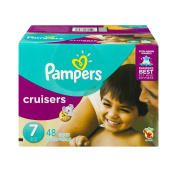 Pampers Cruisers Nappies, Size 7, 48 Nappies