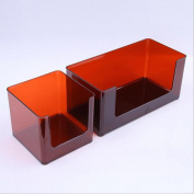 ZXLIFE@Cosmetic storage box multi-functional plastic transparent bathroom shelves bathroom wash table racks , wine red , small
