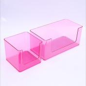 ZXLIFE@Cosmetic storage box multi-functional plastic transparent bathroom shelves bathroom wash table racks , pink , small