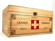 Wooden Medicine Storage Box First Aid Shabby Vintage Pharmacie Bathroom Kitchen Medicine Box