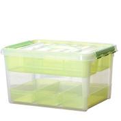 Household Medicine Box Double-layer Large Drugs First Aid Box Debris Finishing Storage Box Plastic Storage Storage Box Treasure Chest