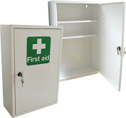 First Aid Medical Cabinet / First Aid Storage - Key Locking Safe - Supplied Empty