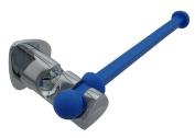 saniplast Silicon Wall Roll Holder, Metal, Blue, 16.5 x 6.2 x 4.5 cm