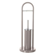 Toilet Brush and Toilet Roll Holder Paper Taupe