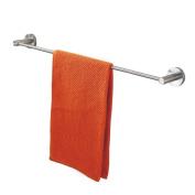LD & P 304 Stainless Steel Towel Rack Single Rod Bathroom Wall Mount Towel Bars-60cm