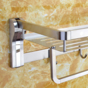 LD & P Towel Holder 304 Stainless Steel Bathroom Rack Hardware, Towel Holders With single pole Brushed