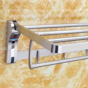 LD & P Towel rack Bathroom folding Bathroom Shelves, Hardware pendant Towel Bar 304 Stainless Steel Brushed