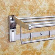 LD & P Towel holder 304 stainless steel bathroom Towel Holders Shelf Bathroom Hardware Wall MountedTowel Bars