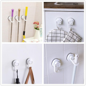 Sucker Broom Holder Mop Rack Wall Mount Storage For Bathroom Kitchen Hooks