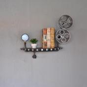 LNPP American Country Style Wall Shelf for Bathroom Storage Home Decor,24x 22Inch x 36cm