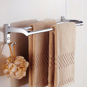 Bathroom towel bar, bath towel rack, double pole towel hanging rod, bathroom shower bath pendant, stainless steel towel rack