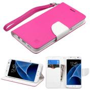 Samsung Galaxy S7 Case, by Insten Book-Style Leather Case with Lanyard For Samsung Galaxy S7 case cover