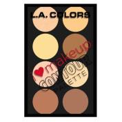 (3 Pack) L. A. colours I Heart Makeup Contour Palette - Light To Medium