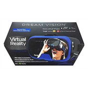 Tzumi Dream Vision Virtual Reality Smartphone Headset, Retracteable Built-in Ear Buds,fits all phones up to 15cm , 360 Video Ca