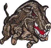 Iron on Patch Sew on Embroidered Application Angry Wild Boar Monster Predator