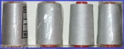 Light Grey 58 Overlocking Sewing Machine Polyester Thread Four 5000 Yards Cones