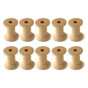 10 x Wooden Spools. Thread, ribbons, twine reel organiser. Choose from 3, 5, 7cm. Zakka sewing craft