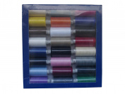 SPUN POLYESTER SEWING MACHINE THREAD- MOON THREAD - PACK OF ASSORTED/MIXED COLOURS - 24 x 1000YD - 120s