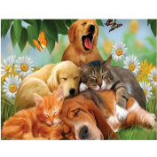 SO-buts 5D Animal Diamond Rhinestone Pasted Embroidery Painting Cross Stitch Home Decor