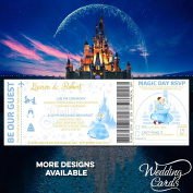 Cinderella Personalised Disney Wedding Birthday Ticket Invitations Party Invite Mickey Minnie Ariel Peter Pan Lion King Princess Prince Superman Personalised Any Size Any Colour Any Text A4 A5 A6 A7
