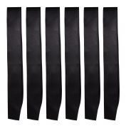 6 Pieces Satin Sash Plain Blank Sash Party Accessory for Wedding Ceremony Party Decorations and DIY Accessory, Black