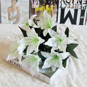 Artificial Flowers,Artificial Tiger Lily Latex Real Touch Flowers Fake Flower for Home and Wedding Decoration Artificial Flowers Home Hotel Wedding Party Garden Decorative Arrangement Flowers