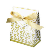 Wedding Favour Candy Gift Boxes with Ribbons