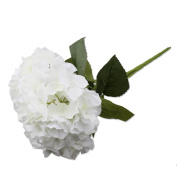 A-SZCXTOP Artificial Silk Hydrangeas Flowers 5 Big Heads Bouquets Fake Flowers for Home Party christmas wedding table decorations.