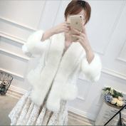 Woman'S Shawl Wedding Dress Warm Accessories Cape Package Long-Sleeved Jacket Jacket White