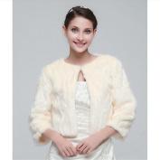 Bride married shawl Cape package Wedding warm waistcoat / jacket Champagne embossed