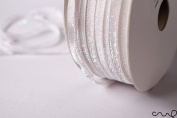 redchocol8 10M x 5mm Wide White Glitzy Trimming Glittered Ribbon Wedding Christmas Gift Wrapping