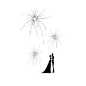 Personalised Fingerprint Signature Tree DIY Wedding Party Tree Decoration