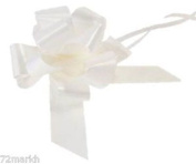 Large White Pull Bow - Ideal As Gift Wrap, Florist, Wedding Bow by APAC Packaging