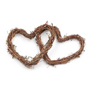 Grapevine Rattan Heart Hanging Wedding Christmas Party Twiggy Garland Home Decoration(10cm) Pack of 5