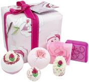 Pa-ula Unique Rose Bath Bomb Set Gift Wrapped