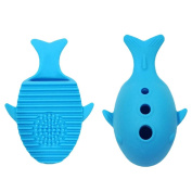 Hunpta Whale Silicone Makeup Brush Cleaning Washing Holder Tools Cosmetics Board Stand Tool