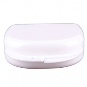 Niceyo Denture Case Dental Orthodontic Retainer Mouthguard Storage White