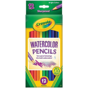 Watercolor Woodcase Pencils, 3.3 mm, 12 Assorted Colors/Set