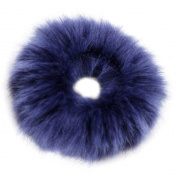FENGLANG 2Pcs Fashion Fluffy Furry Scrunchie Elastic Hair Ring Rope Band Tie