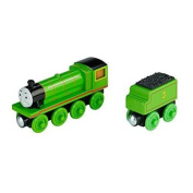 Fisher-Price Thomas Wooden Railway Set, Roll and Glow Henry Multi-Coloured
