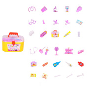 2017 New 30pcs/set Baby Toys DIY Children Cognitive Educational Doctor Play Set Simulation Medicine Box Tools Kids Toys for Gift