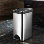 Ali Rectangular stainless steel trash cans large home kitchen office outdoor foot pedal