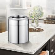 Ali Desktop Trash Stainless Steel Unlocked Cylinder Office Table Car