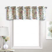 United Curtain Christine Window Curtain Valance, Multicolor, 200cm x 46cm