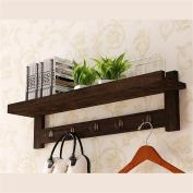 houyuanshun Solid Wood Retro Coat Racks Wall Hanging Shelf Creative Bedroom Hangers Hook Up Coatrack Hallstand Hatstand