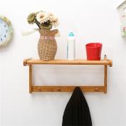 houyuanshun Bamboo Solid Wood Coat Racks / Wall Shelves Wall Hooks / Entrance Door Closet Wall Hangers Coatrack Hallstand Hatstand