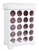 ts-ideen Wine rack Wine Shelves for 16 bottles Wood in white
