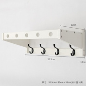 Multi-function Double row hook coat hanger hanging clothes wall hanging hangers living room hook racks, white 4 hooks
