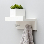 Xuan Guan clothes hook rack wall hanging creative coat hat hook wall coat hat rack hanging hanger wall hook, white two hook