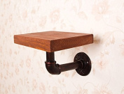 American Retro iron partition wall shelf wall solid wood shelves hanger, red copper